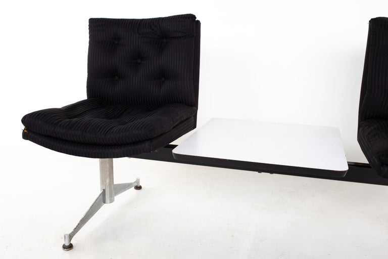 Upholstery Arthur Umanoff for Madison Furniture Mid Century Modular 2 Seater Bench For Sale