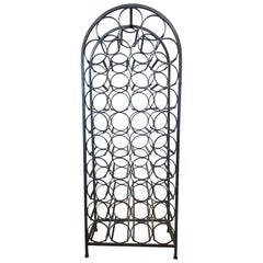 Arthur Umanoff for Shaver Howard 39-Bottle Wrought Iron Wine Rack