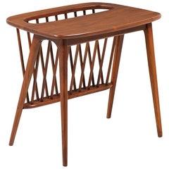 Arthur Umanoff Magazine Rack Side Table for Washington Woodcraft