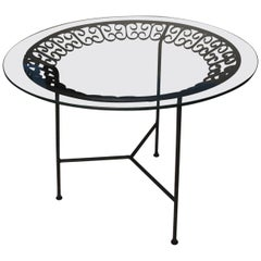 Arthur Umanoff Mid-Century Modern Tri-Leg Dining Patio Table