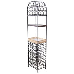Arthur Umanoff Mid-Century Modern Wrought Iron Arched 39-Bottle Wine Rack