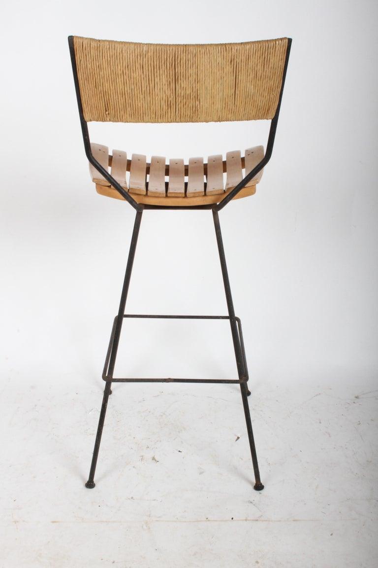 Arthur Umanoff Mid-Century Swivel Bar Stool For Sale 5