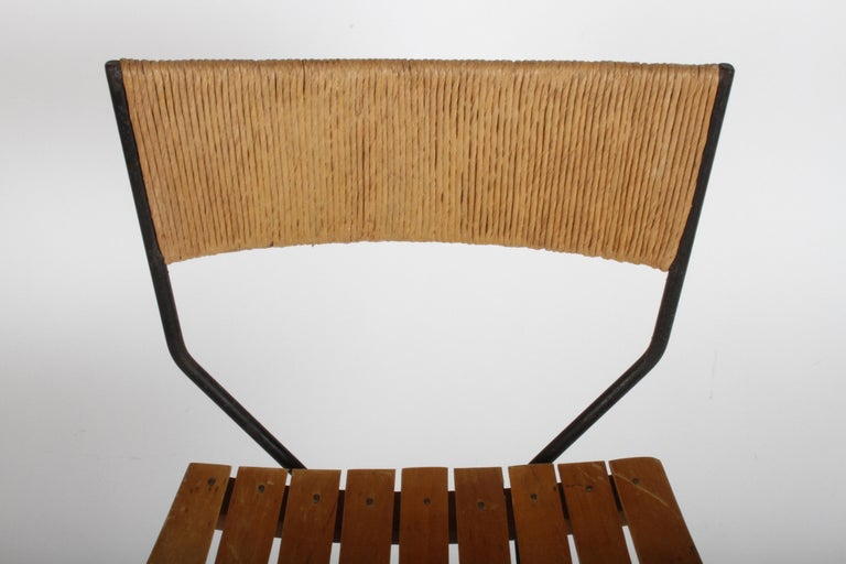 Mid-20th Century Arthur Umanoff Mid-Century Swivel Bar Stool For Sale
