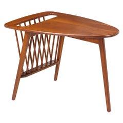 Arthur Umanoff Side Table with Magazine Rack for Washington Woodcraft