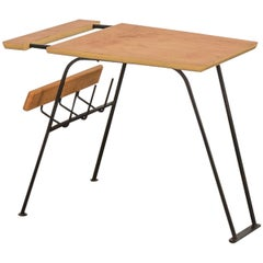Arthur Umanoff Style Magazine Rack Side Table