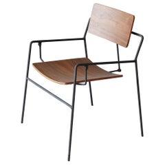 "Arthur Umanoff, ""Swing chair"", Birch, Lacquered Iron, The Elton Company, 1953"