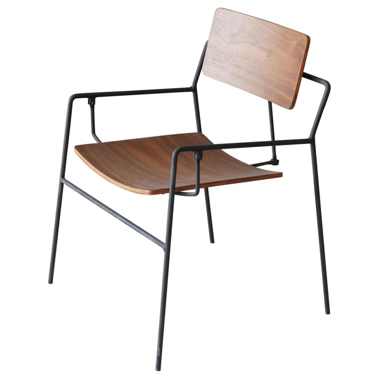 """Arthur Umanoff, """"Swing chair"""", Birch, Lacquered Iron, The Elton Company, 1953 For Sale"""