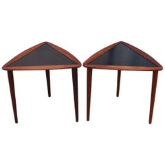 Arthur Umanoff Walnut Stacking Side Tables