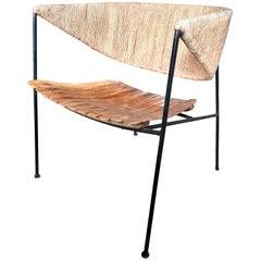 Arthur Umanoff Wood and Rush Chair