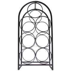 Arthur Umanoff Wrought Iron Seven-Bottle Wine Holder