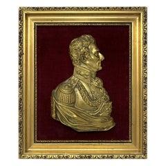 Arthur Wellesley 1st Duke of Wellington Antique Bronze Portrait Dublin Irishman