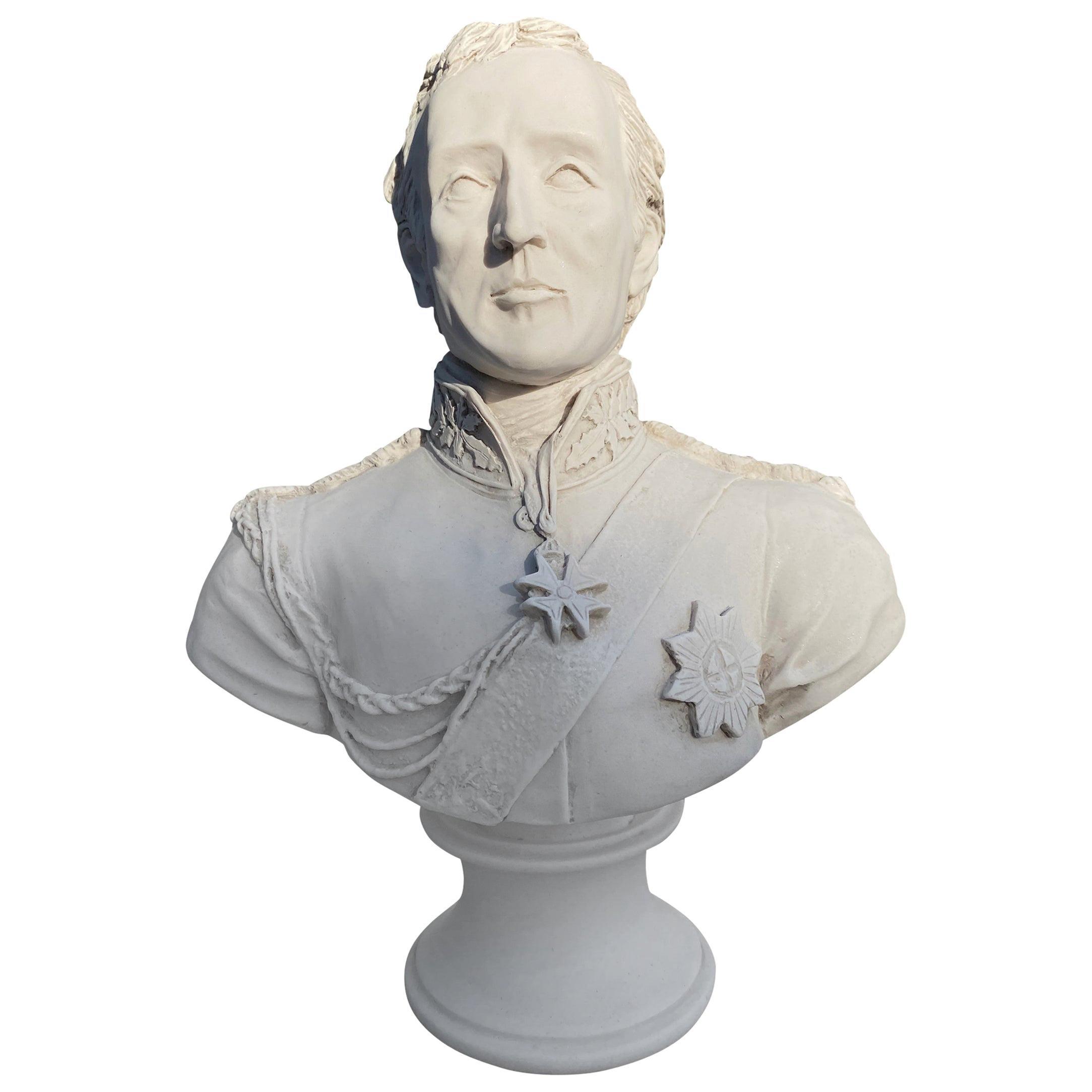 Arthur Wellesley, 1st Duke of Wellington Bust Sculpture, 20th Century