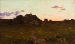 House in a Landscape, Athur Wesley Dow, 1890 (19th Century Landscape Painting)