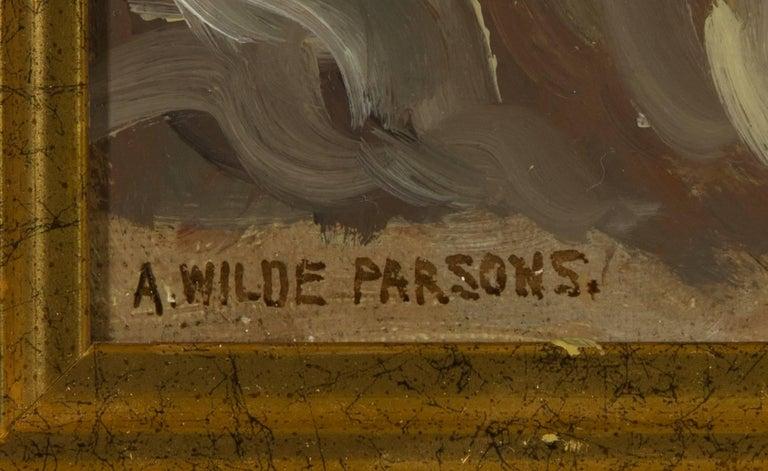 Arthur Wilde Parsons (1854-1931) - Signed English Oil, Gannel Estuary - Realist Painting by Arthur Wilde Parsons