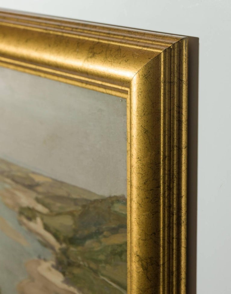 Arthur Wilde Parsons (1854-1931) - Signed English Oil, Gannel Estuary - Brown Landscape Painting by Arthur Wilde Parsons