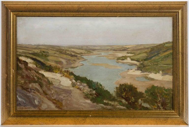 Arthur Wilde Parsons (1854-1931) - Signed English Oil, Gannel Estuary - Painting by Arthur Wilde Parsons