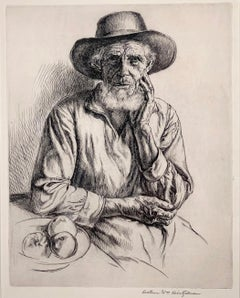 OLD MAN WITH BOWL OF FRUIT