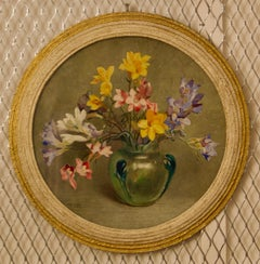 Flowers - Mid 20th Century Watercolour by Arthur Wilson Gay - British Still Life