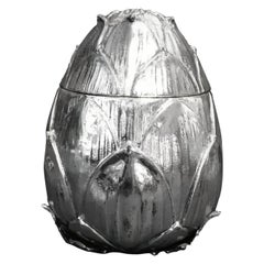 Artichoke Ice Bucket Designed by Mauro Manetti, Silver Plated, circa 1970