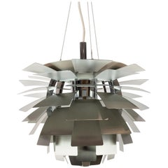 Artichoke, in Brushed Steel Designed by Poul Henningsen in 1958