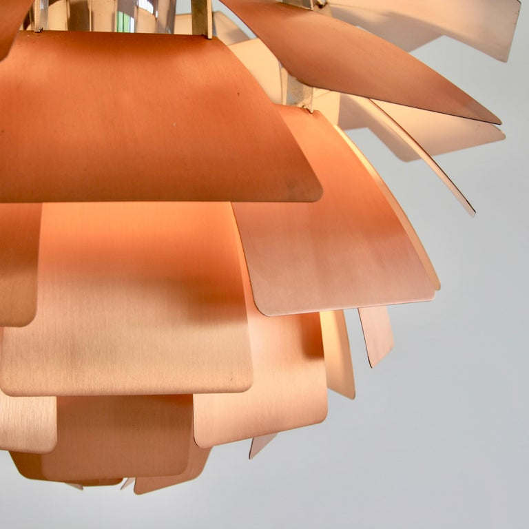 Pendant lamp dsesigned by Poul Henningsen. Denmark, Louis Poulsen, 1980s. Measure: (60 Cm).