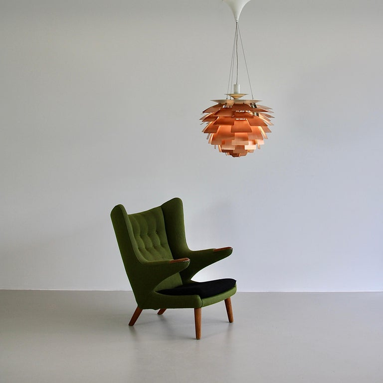 Mid-20th Century Artichoke Pendant Lamp in Copper by Poul Henningsen For Sale