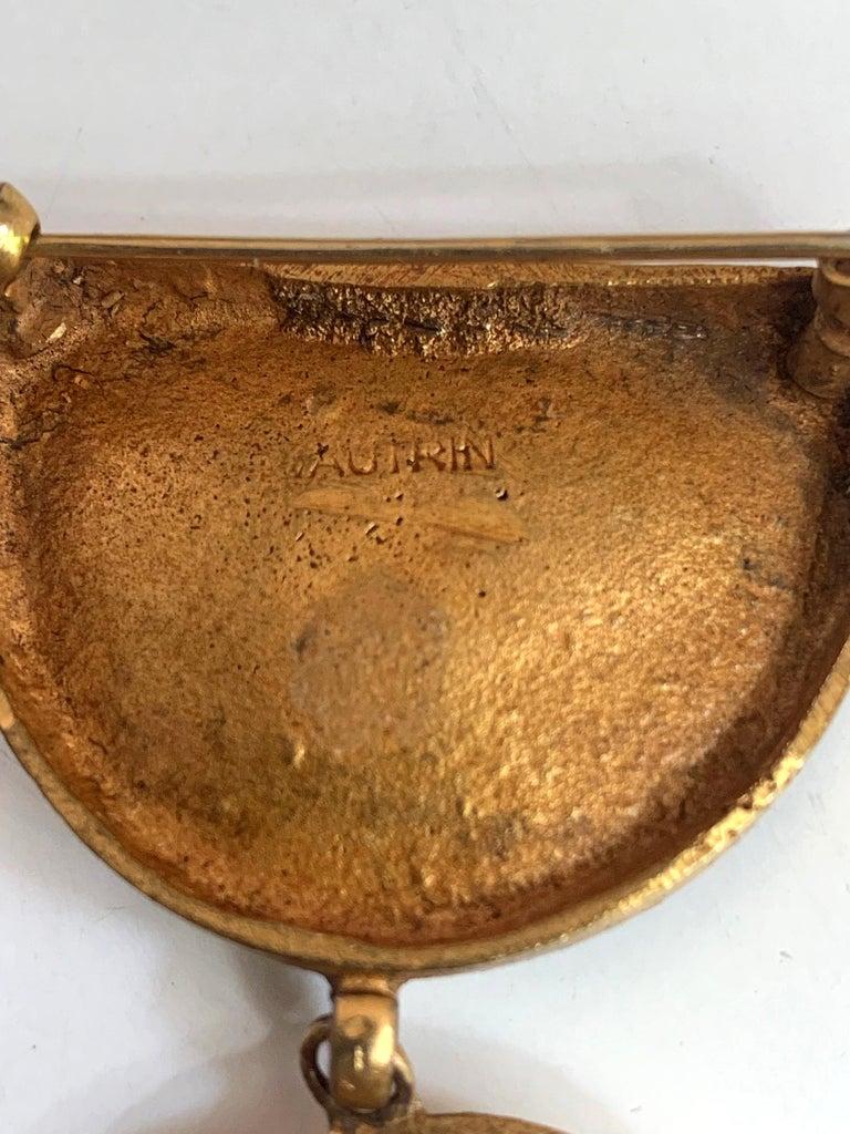Articulate Bronze Brooch