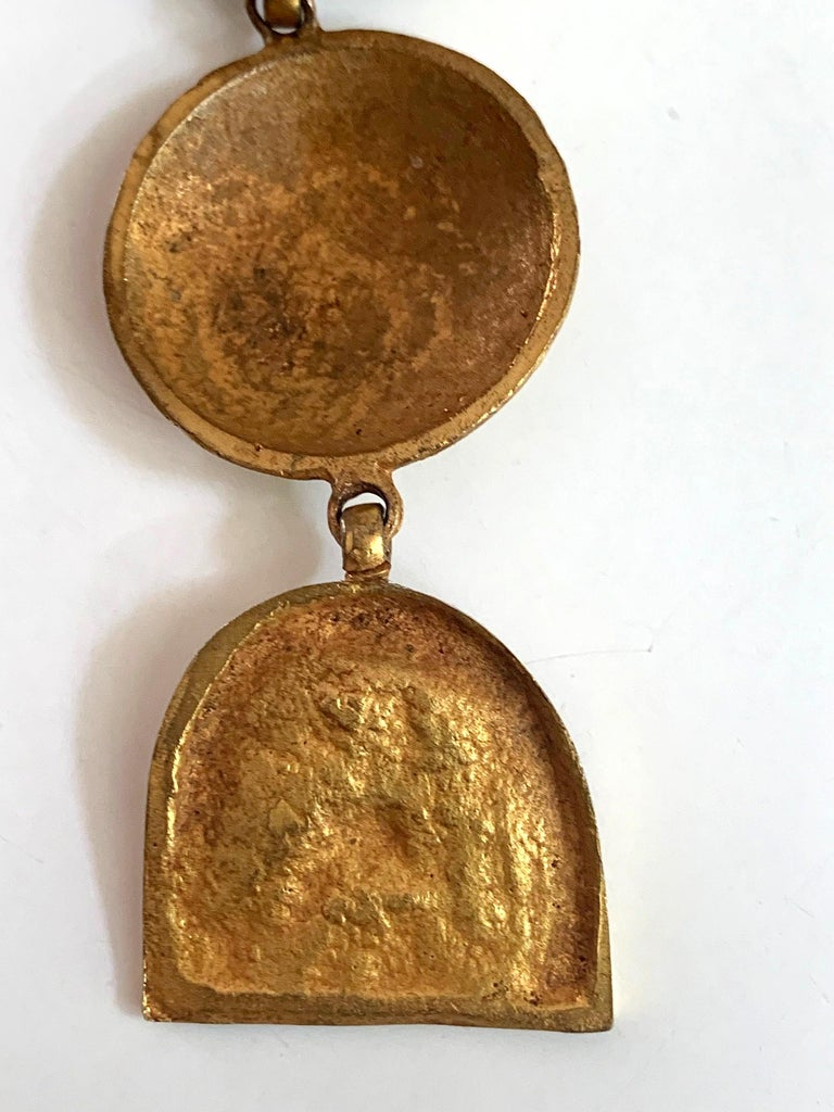 Mid-20th Century Articulate Bronze Brooch