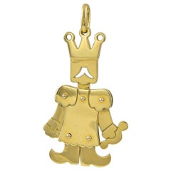 Articulated 18 Karat Gold King or Jester Pendant by Pomellato of Milan
