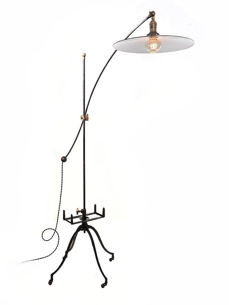 Industrial Articulated Book Rack Floor Lamp For Sale