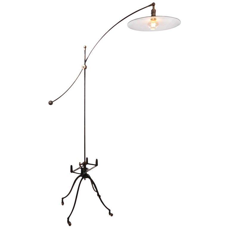 Articulated Book Rack Floor Lamp For Sale