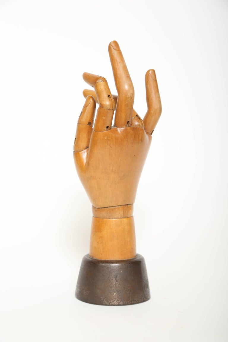 Late Victorian Articulated Hand Mannequin For Sale