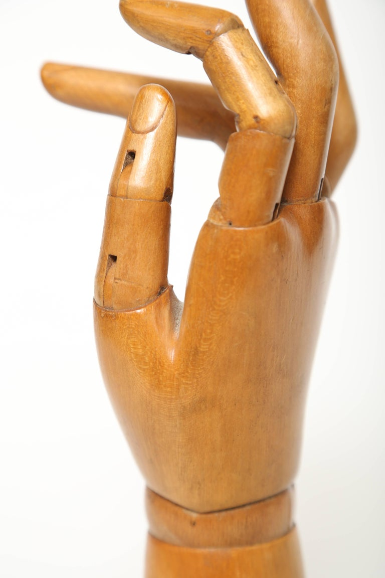 Late 19th Century Articulated Hand Mannequin For Sale