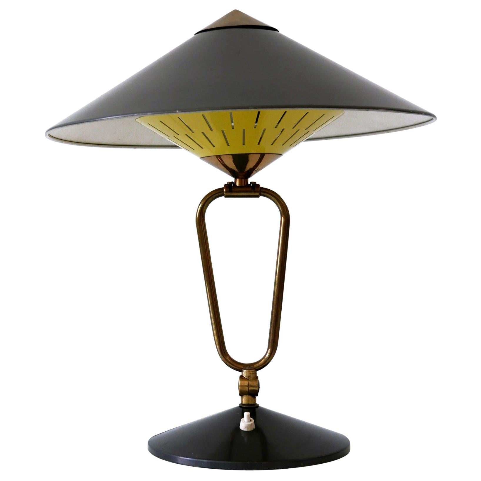 Articulated Large Mid-Century Modern Table Lamp or Wall Sconce 'Witch Hut' 1950s