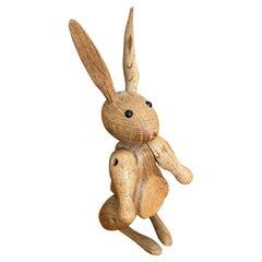 Articulated Mid-Century Danish Wooden Rabbit by Kay Bojesen