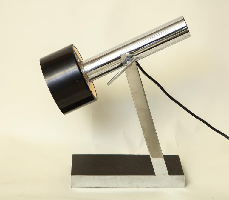Italian Articulated Table Lamp Architectural Mid-Century Modern shade adjusts Italy 1950 For Sale