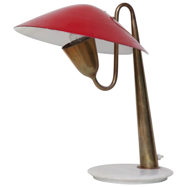 Table Lamp Articulated Mid-Century Modern Italy 1950s For Sale
