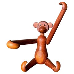 Articulated Teak Monkey in the Style of Kay Bojesen, circa 1960s