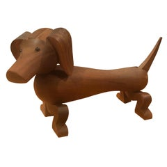 Articulated Toy Dachshund / Dog by Kay Bojesen