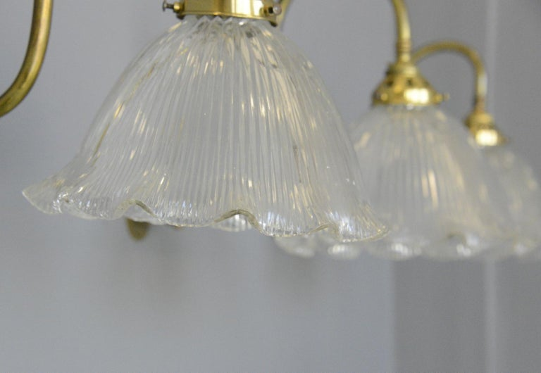 English Articulated Wall Sconces by Holophane, circa 1910 For Sale