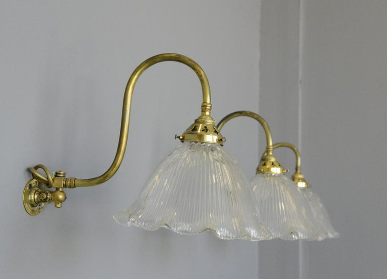 Articulated Wall Sconces by Holophane, circa 1910 For Sale 1