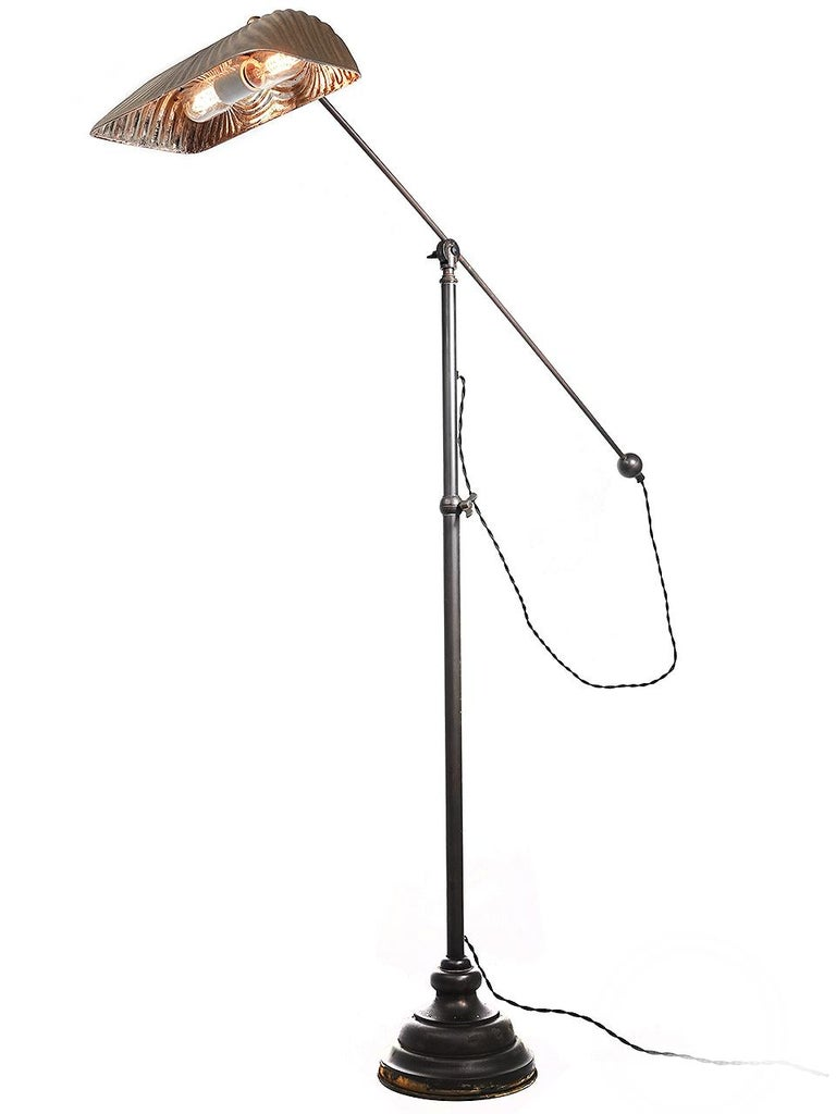 American Articulated X-Ray Mercury Glass Floor Lamp For Sale
