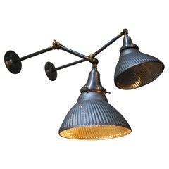 Articulating 1920 Mercury Shade Lighting Sconces