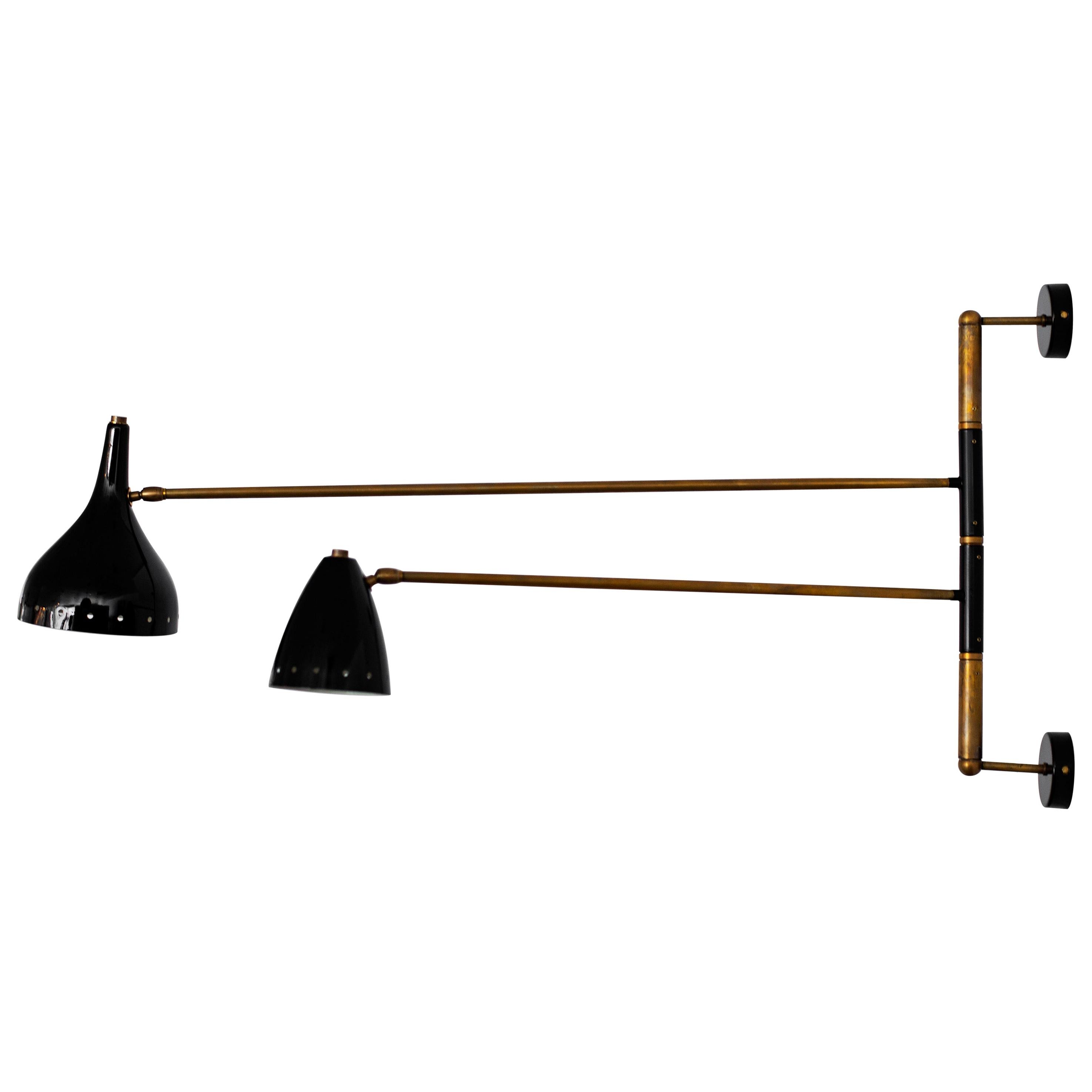 Articulating Italian Two-Arm Sconce