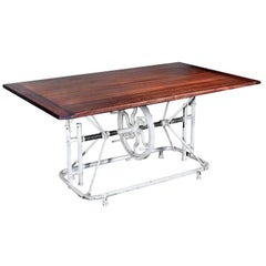 Articulating Table Base with Beautiful Wood Top