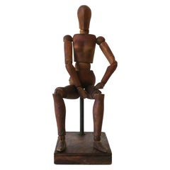 Articulating Wood Model Female Figure Sculpture Piece