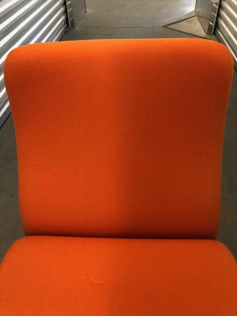 Artifort Classic Orange Low Back Concorde Chair by Pierre Paulin For Sale 3