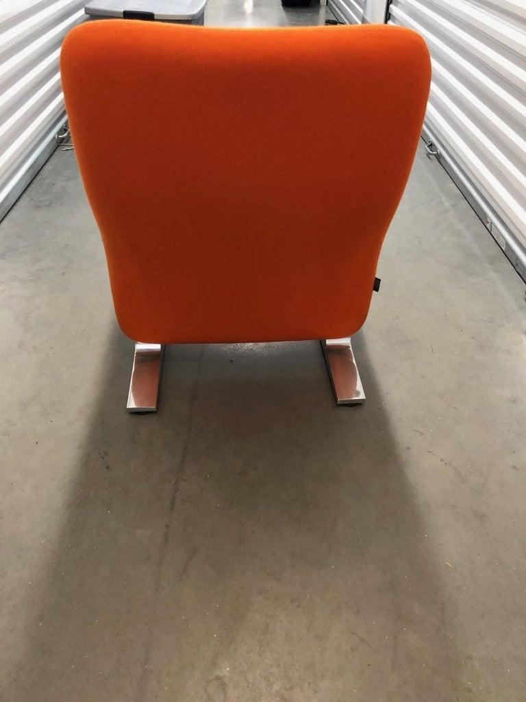 Artifort Classic Orange Low Back Concorde Chair by Pierre Paulin For Sale 5