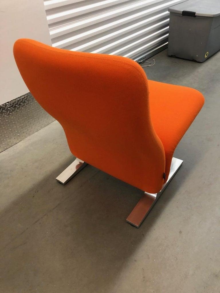 Artifort Classic Orange Low Back Concorde Chair by Pierre Paulin For Sale 6