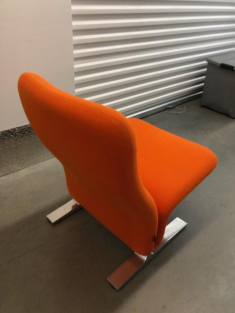Artifort Classic Orange Low Back Concorde Chair by Pierre Paulin For Sale 7